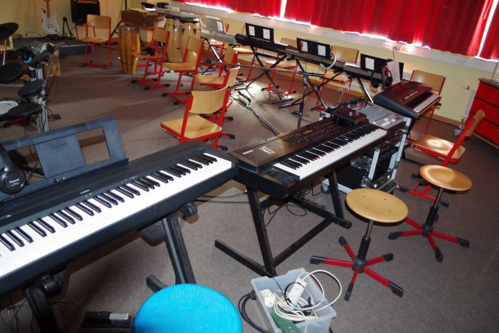 Musikraum mit Keyboards